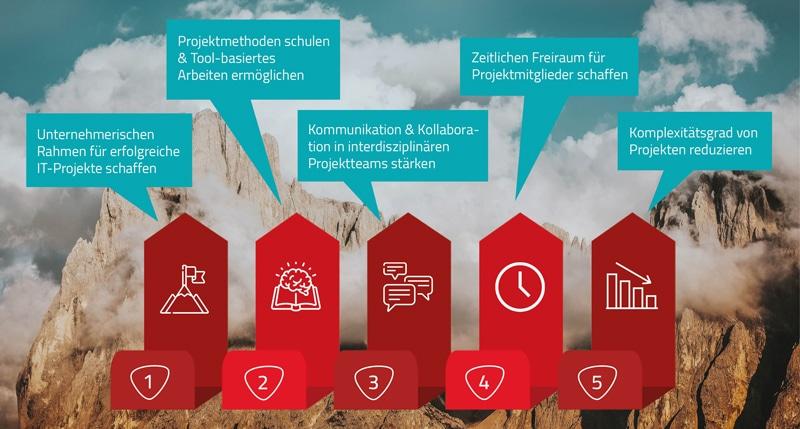 Herausforderung bei IT-Projekten begegnen