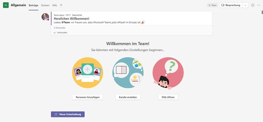 Microsoft Team Kommunikation