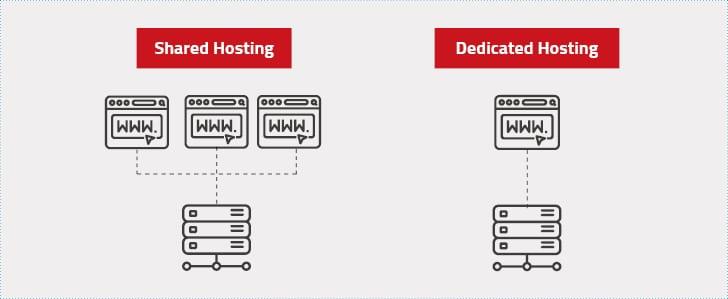 Hosting Arten - Shared Hosting vs. Dedicated Hosting