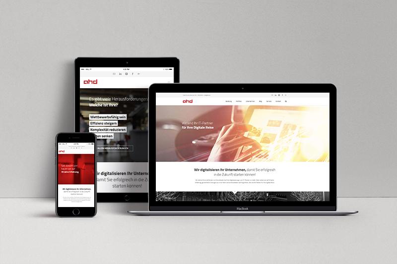 Neue ahd Webseite auf unterschiedlichen Medien