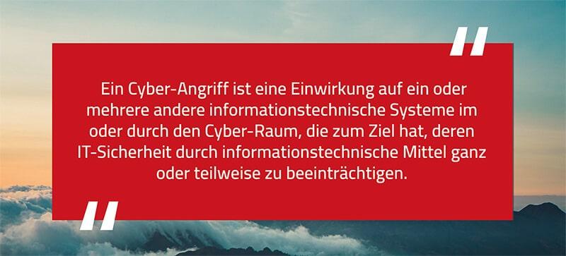 Cyber-Angriffe Zitat des BSI