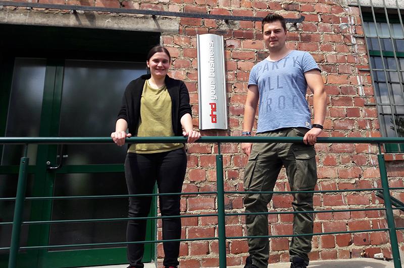Ausbildungsabschluss: Sarah Hinzmann und Michael Frank